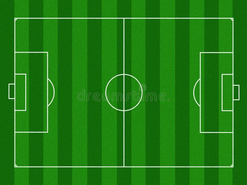 футбол проиллюстрированный полем иллюстрация штока