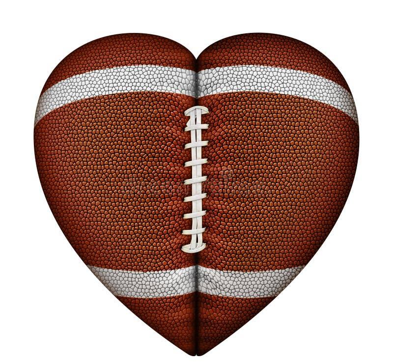 Футбол сердца иллюстрация вектора