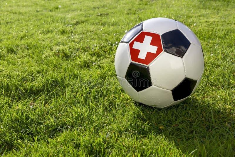 Футбол с флагом стоковые изображения rf