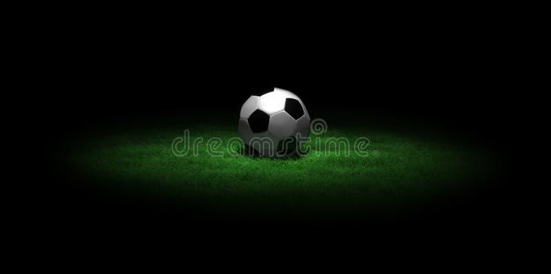 футбол травы шарика темный стоковые изображения rf