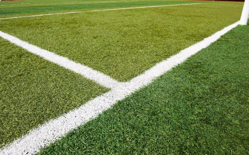футбол травы стоковая фотография