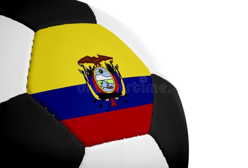 футбол флага ecuadorian стоковое изображение rf