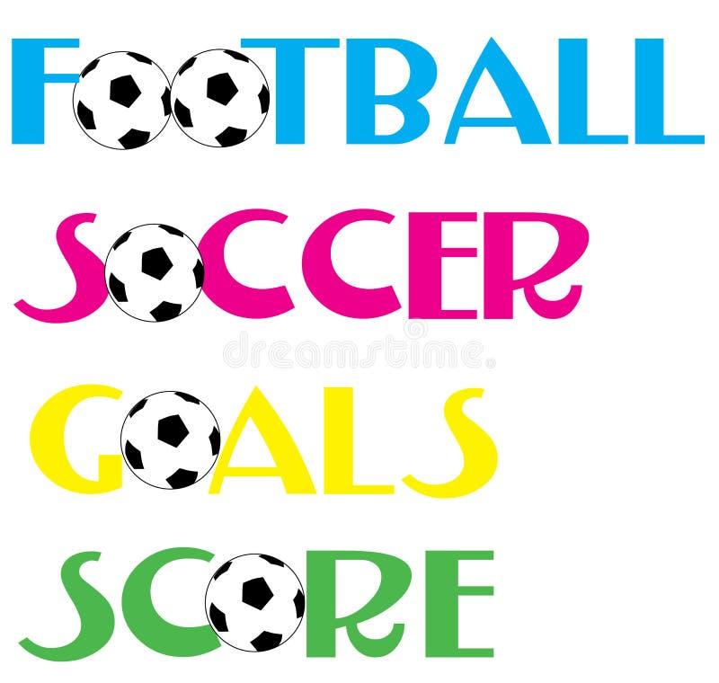 футбол футбола знамен иллюстрация вектора
