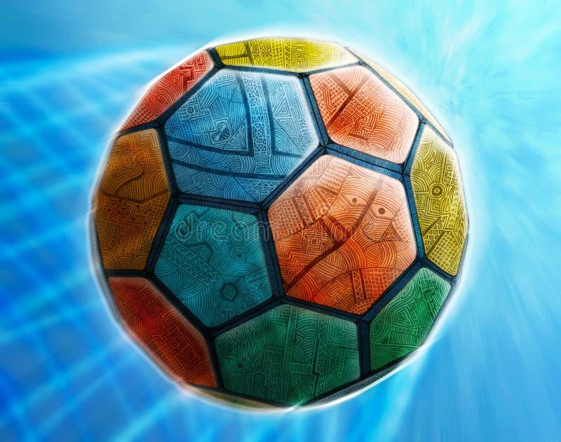футбол футбола шарика искусства иллюстрация вектора