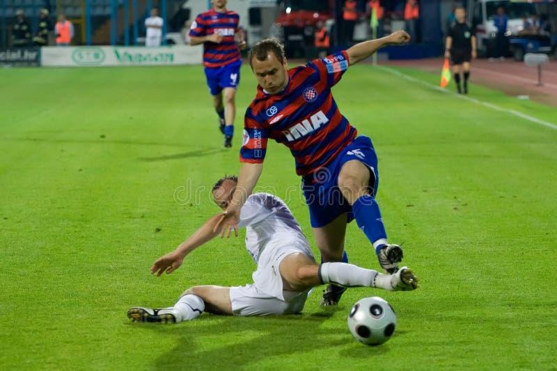 футбол футболистов поединка стоковая фотография rf
