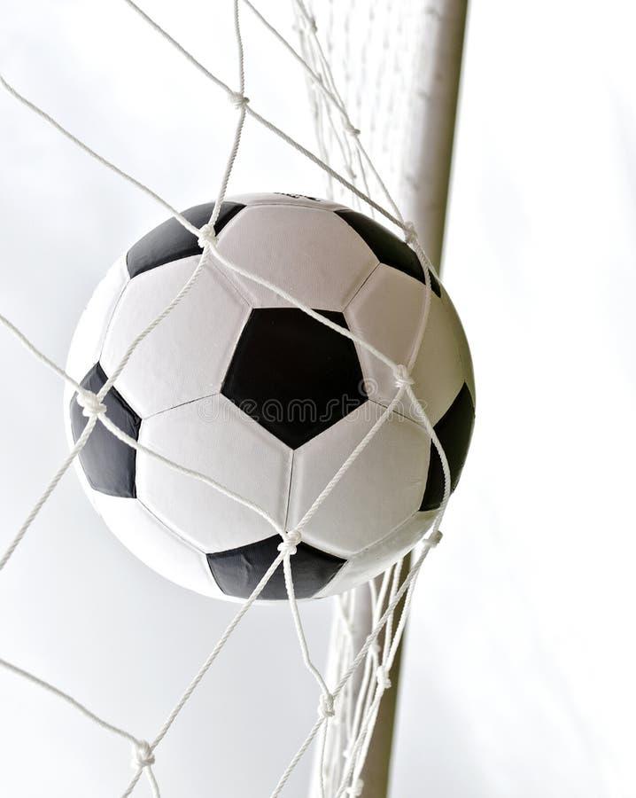 футбол цели шарика стоковое изображение rf