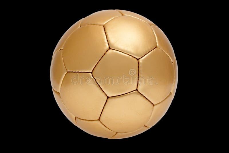 футбол шарика золотистый стоковое фото