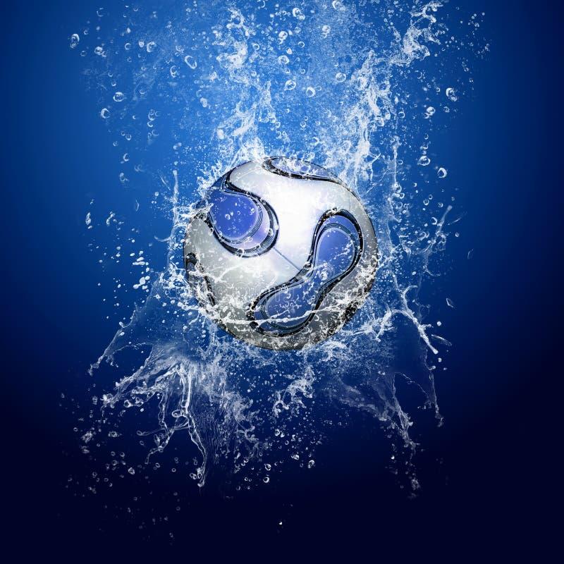 футбол шарика под водой стоковые фотографии rf