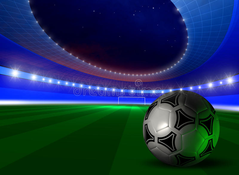 футбол шарика предпосылки иллюстрация штока