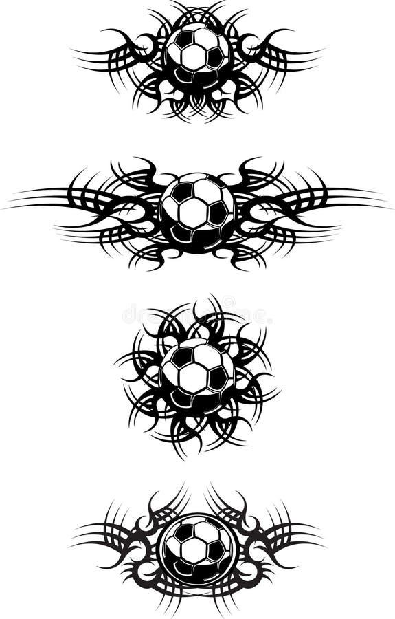 футбол шариков соплеменный бесплатная иллюстрация