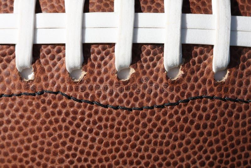 футбол шнурует текстуру стоковая фотография