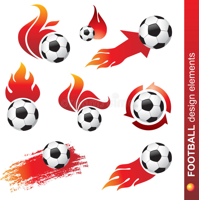футбол элементов конструкции иллюстрация штока
