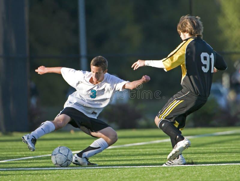 футбол 2 игроков стоковое фото