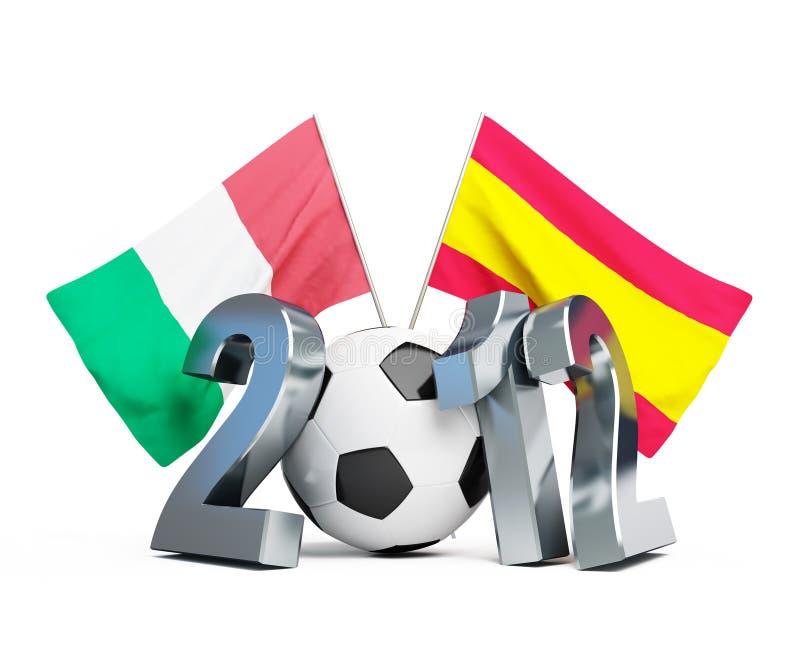 футбол 2012 Италии Испания против бесплатная иллюстрация