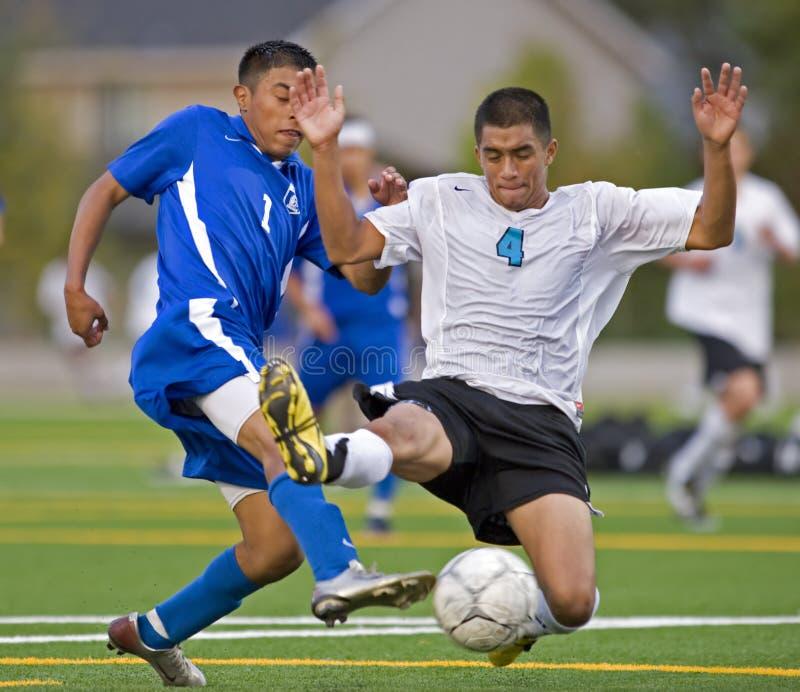 футбол 5 средних школ стоковое изображение rf