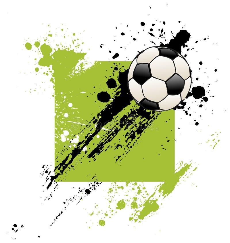 футбол grunge шарика иллюстрация вектора
