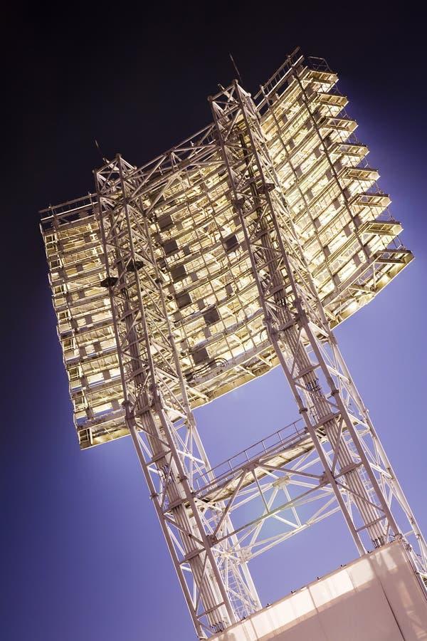 футбол spotlights стадион стоковое изображение