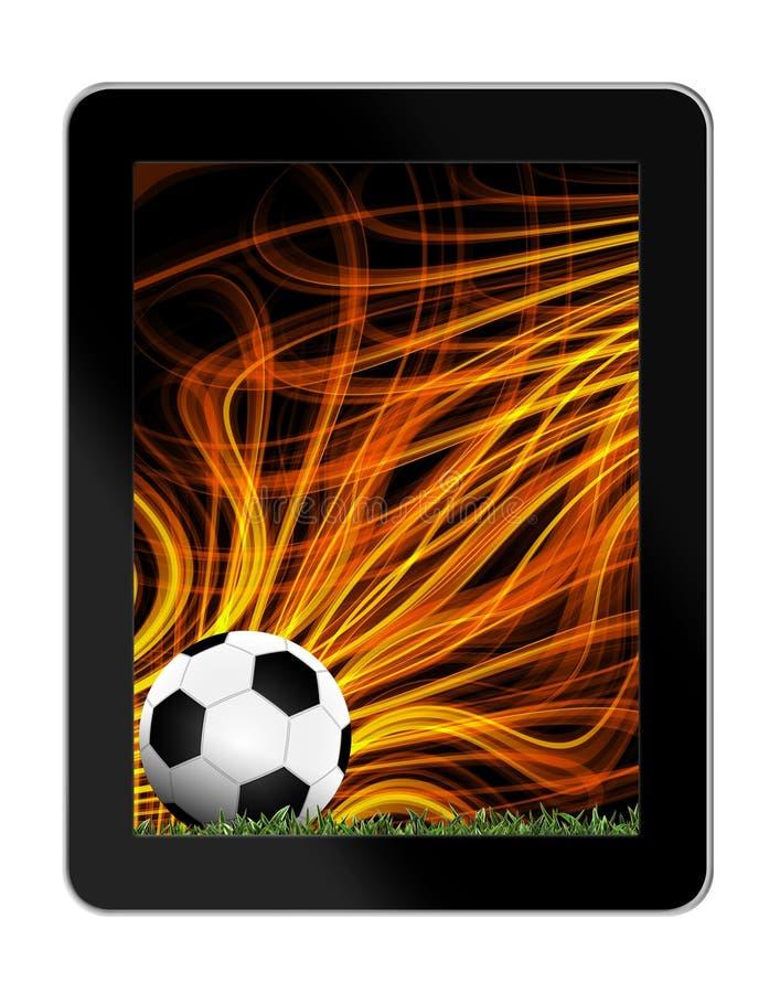 Download Футбол в зеленой траве с предпосылкой в таблетк-ПК Иллюстрация штока - иллюстрации насчитывающей backhoe, зрелищность: 41654316