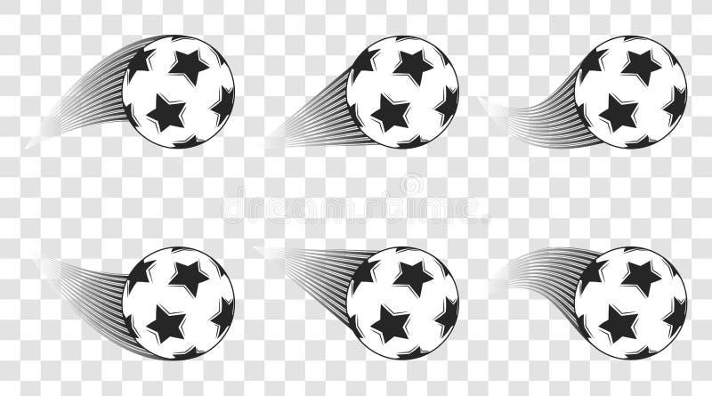 футбол горящего стекла шарика aqua Съемка футбола изолированная на прозрачной предпосылке цель вектор техника eps конструкции 10  иллюстрация штока