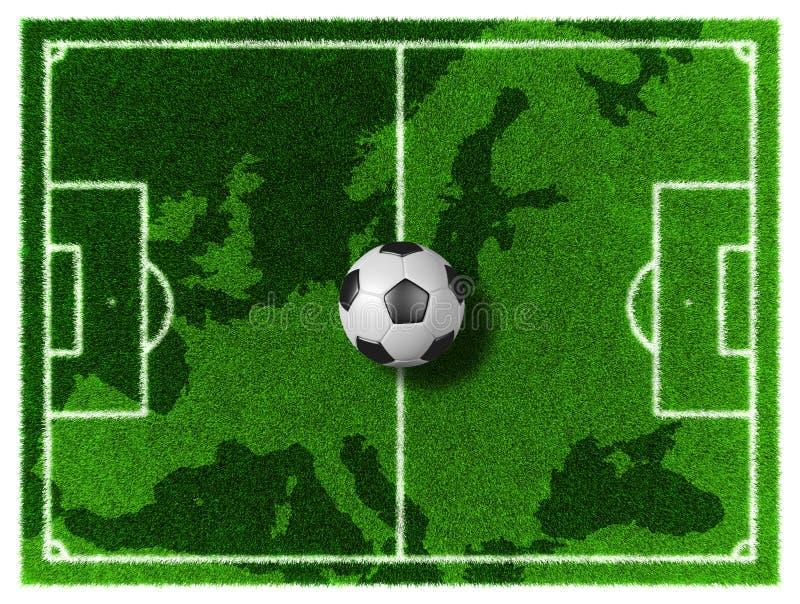 Футбол Европы иллюстрация штока