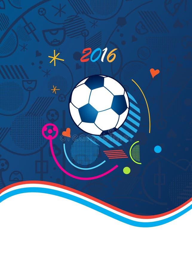 Футбол 2016 ЕВРО иллюстрация штока
