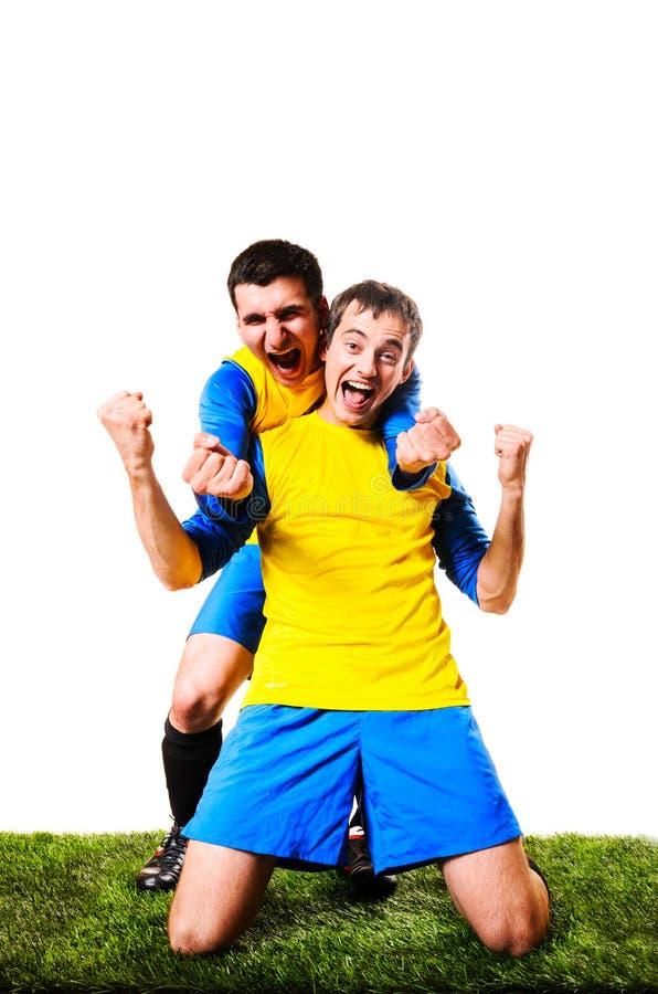 Download Футболисты стоковое фото. изображение насчитывающей цель - 33738950