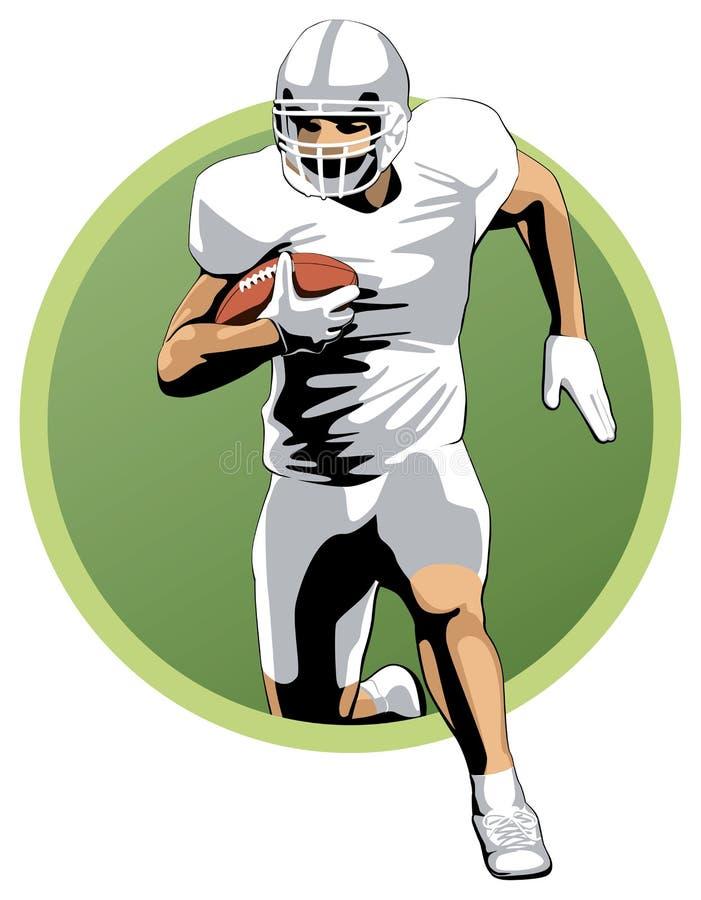 Футболист бежать с шариком стоковая фотография rf