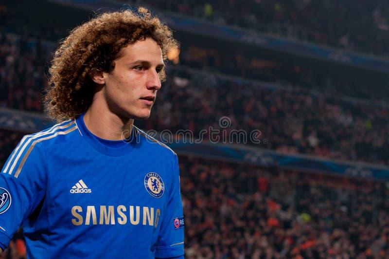 Футболист Дэвид Luiz стоковое фото