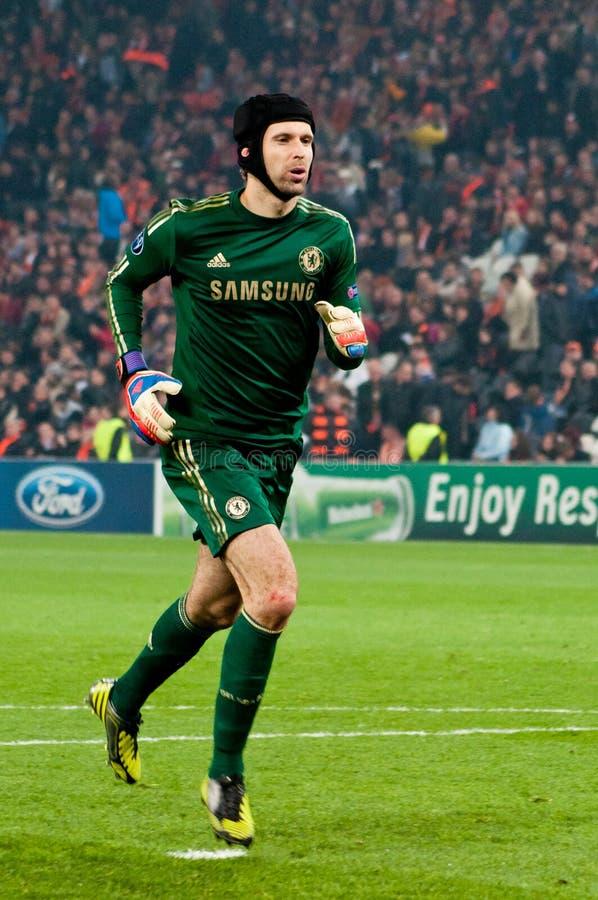 Футболист Питер Cech стоковая фотография rf