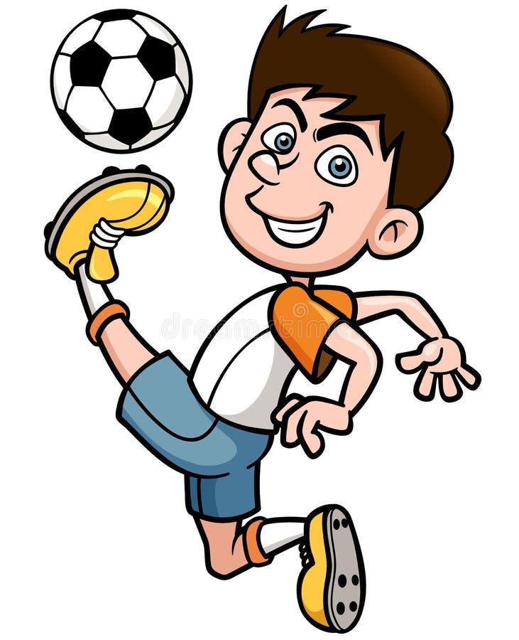 Download Футболист иллюстрация вектора. иллюстрации насчитывающей браслетов - 37931895