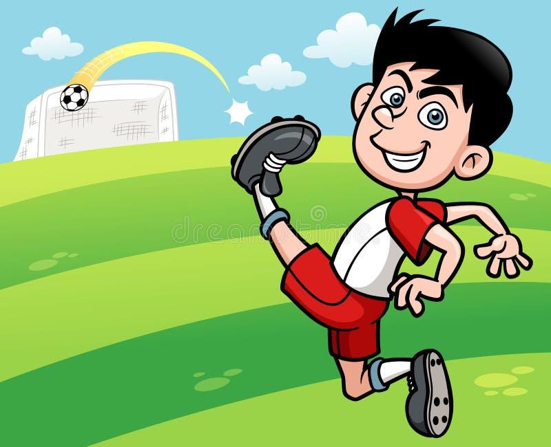 Download Футболист иллюстрация вектора. иллюстрации насчитывающей усмехаться - 37931902