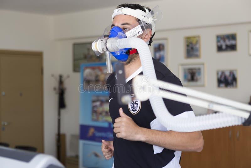 Футболист Panagiotis Deligiannidis PAOK пока идя thr стоковое изображение rf