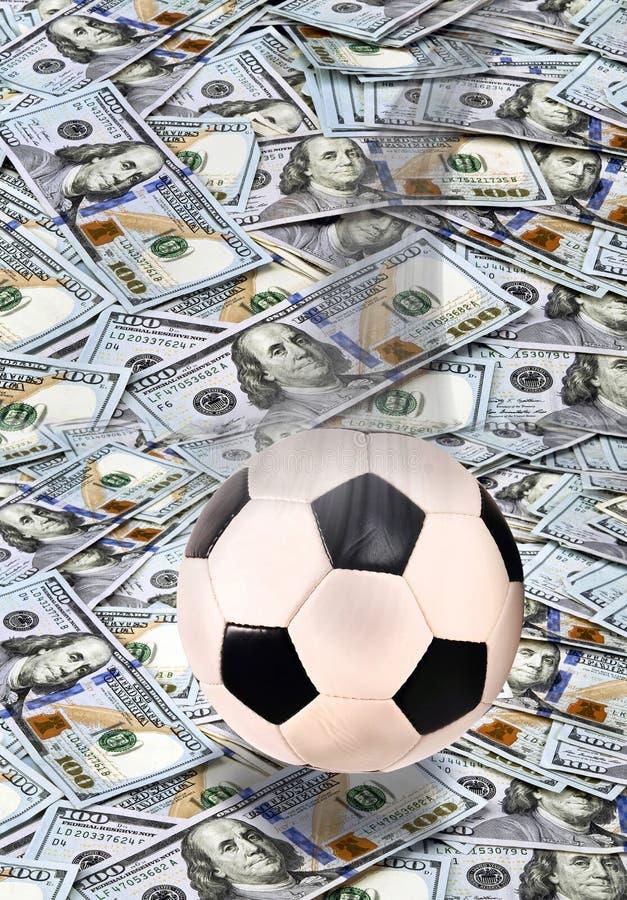 Футбол и деньги стоковое изображение rf