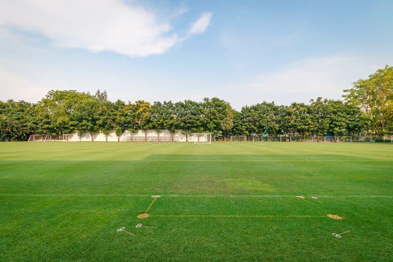 Футбол или футбольное поле стоковая фотография