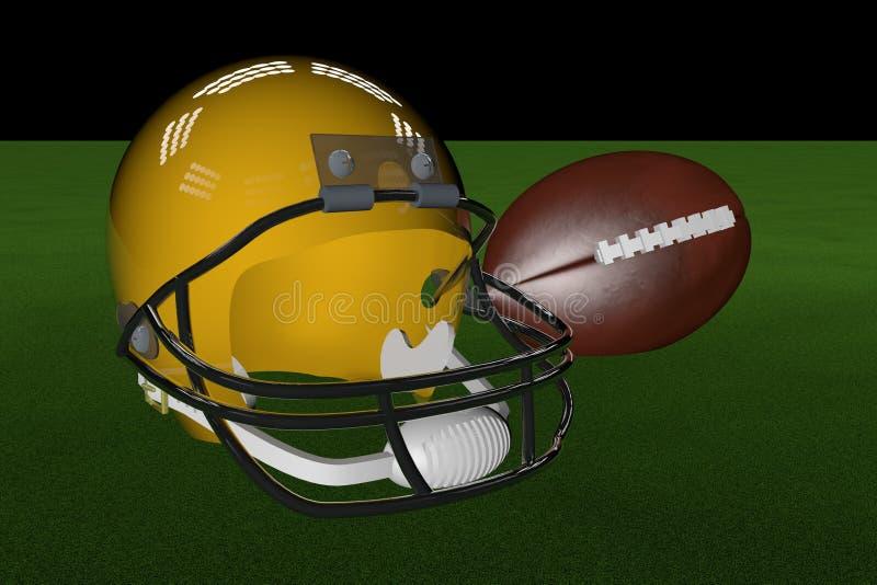 Футбол и шлем бесплатная иллюстрация