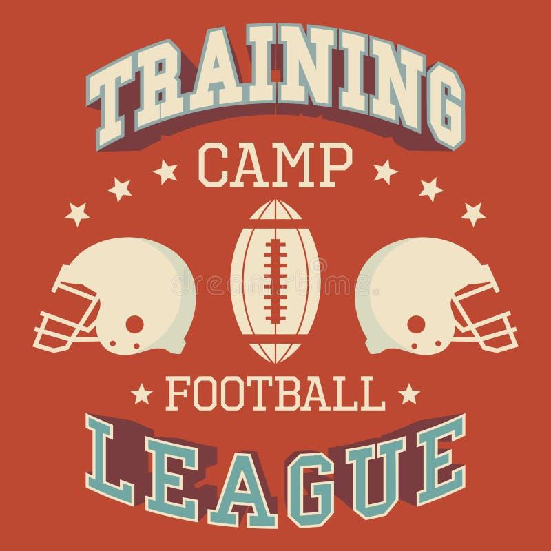 Футболка американского футбола учебного лагеря иллюстрация вектора