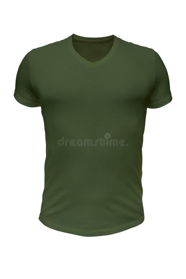 Футболка армии зеленая стоковое изображение rf