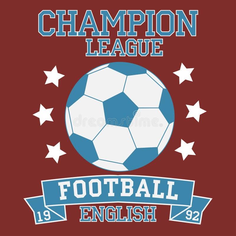Футболка лиги чемпиона футбола английская иллюстрация вектора
