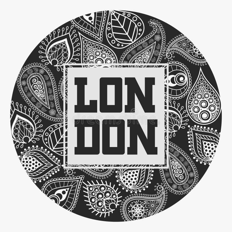 Футболка Лондона с флористическим орнаментом бесплатная иллюстрация