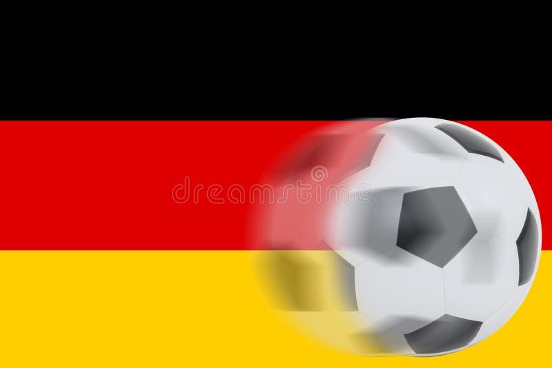 Футбол на немецком флаге стоковые фотографии rf