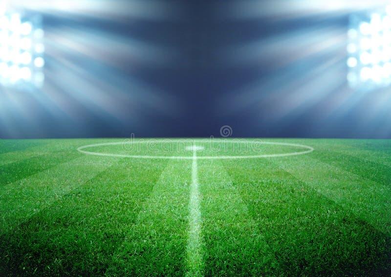 футбол поля конструкции вы стоковое изображение