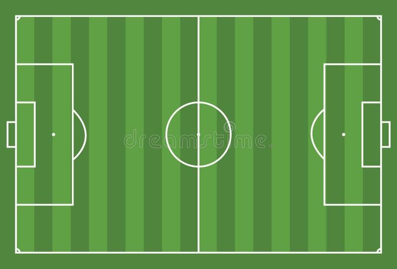 футбол поля конструкции вы иллюстрация вектора