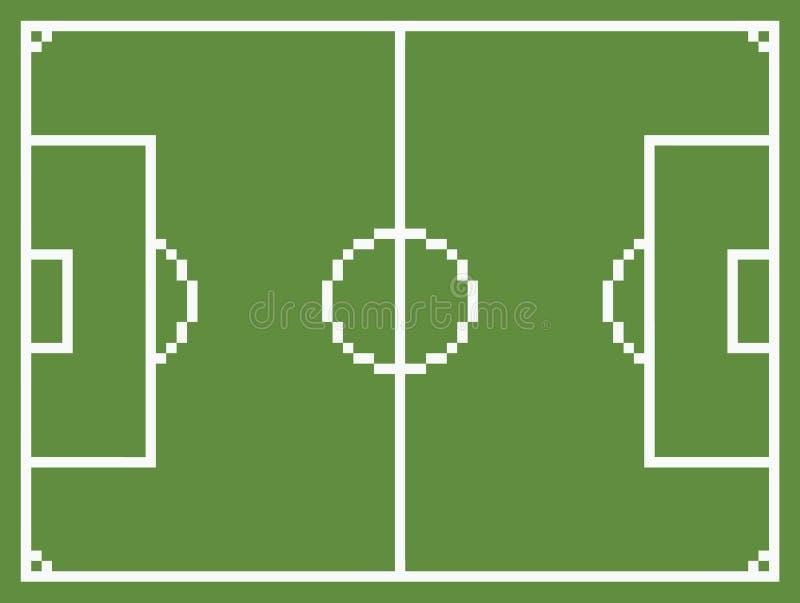 Футбол поля спорта футбола стиля искусства пиксела иллюстрация вектора