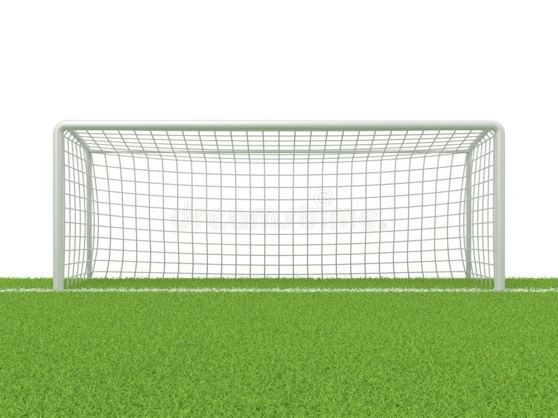 Футбол - строб футбола на траве 3d представляют бесплатная иллюстрация