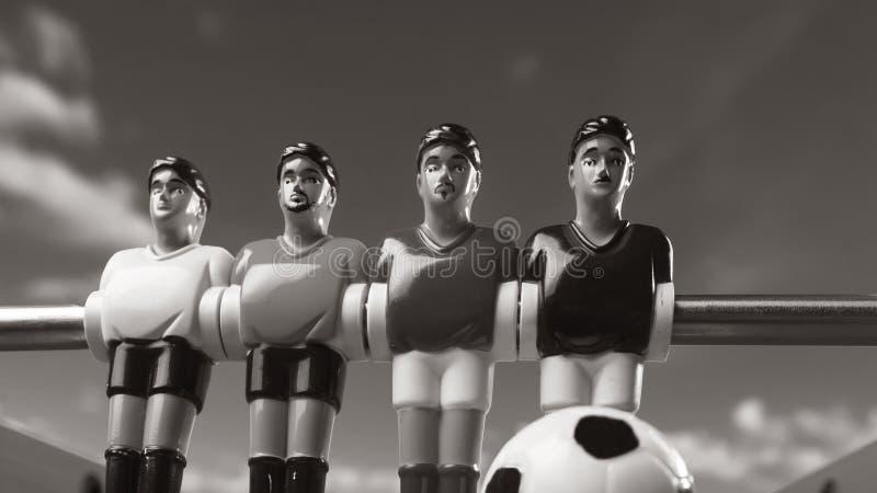 Футбол таблицы Foosball время спорта футболистов стоковое изображение