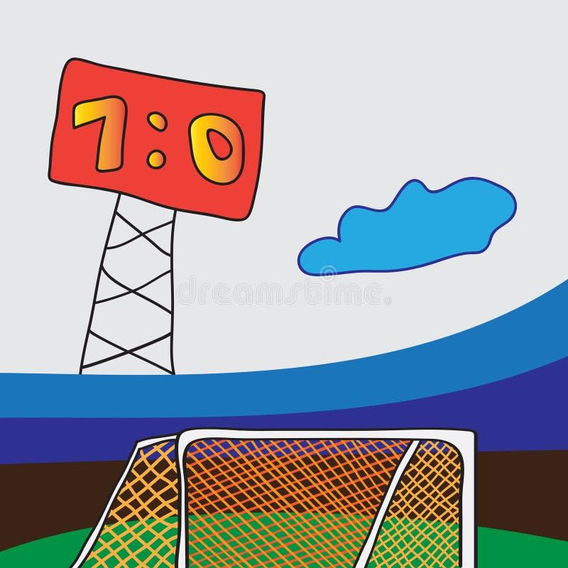 футбол цели сетчатый иллюстрация штока