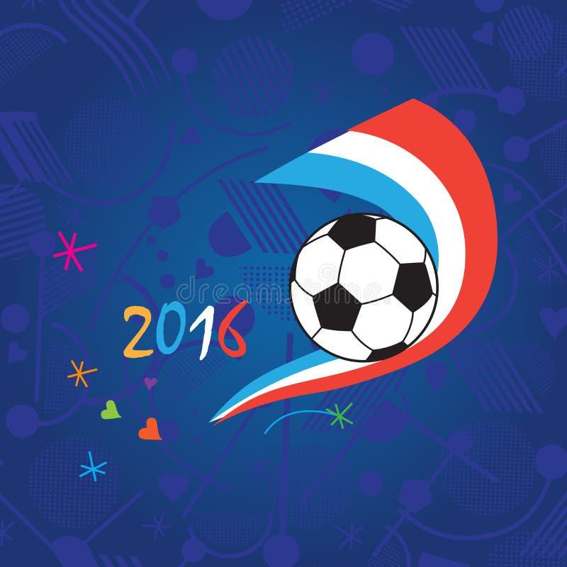Футбол 2016 чемпионата иллюстрация вектора