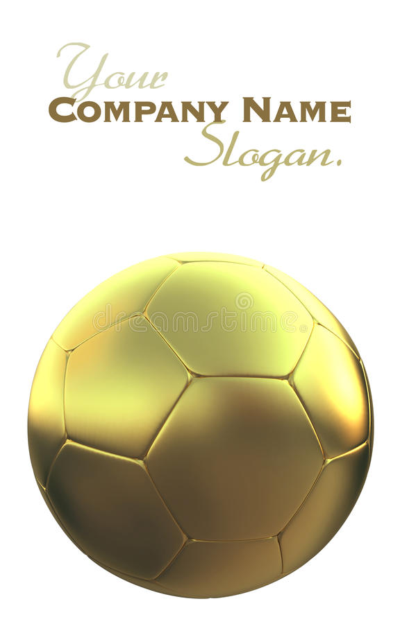 футбол шарика золотистый стоковые фото