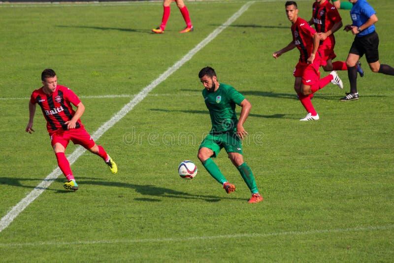 футбольная игра футбол Молдавская лига профессионального футбола стоковая фотография