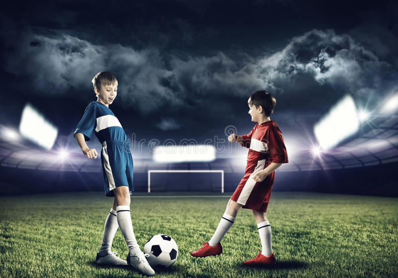 футбольная игра стоковая фотография rf